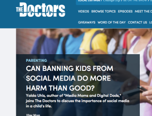 Appearance on The Doctors as a media expert