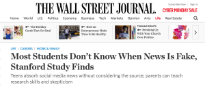 Most Students Don't Know When News Is Fake, Stanford Study Finds
